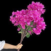 """Поддельные бугинвильеа (3 стебли / шт.) 39.37 """"Симулятор длины зашифрованные бугенвильес для свадебных домов декоративные искусственные цветы"""