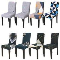 1Pcs Геометрическая Spandex Председатель Обложка Stretch Elastic Slipcovers кресло чехлов сидений для столовой Кухня Свадебный банкет отель