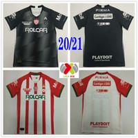 2020 2021 Meksika Kulübü Necaxa Futbol Formaları # 32 Gonzale Özel 20 21 Liga MX Ev Uzakta Kırmızı Siyah Yetişkin Çocuklar Gençlik Futbol Gömlek Üniforma