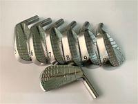 Zodia Spider Irons Zodia Spinne Golf Geschmiedete Eisen Silber Zodia Spider Golf Clubs 4-9P Stahlwelle mit Kopfbedeckung