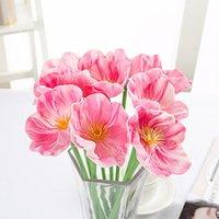 Festa de casamento de Rosa Multicolor Mini PE Calla Lily Artificial Flower Bouquet Enfeite Flor Scrapbooking Fake Flowers