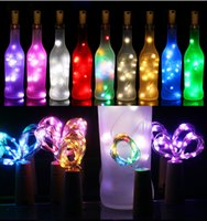 أضواء عيد الميلاد 2M 20LED ماء النحاس مصغرة سلسلة الجنية ضوء DIY الزجاج حرفة زجاجة الزينة LED سلسلة أضواء عيد الميلاد