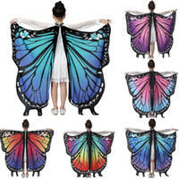 Foulards Colorful Butterfly Butterfly Châle Cape Cape Costume Accessoire Enfant Fille amicale Loved f Fast Ship