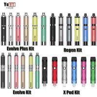 정통 Yocan Evolve 시리즈 6 유형 Evolve-D Evolve Plus Regen Armor X POD 스타터 키트 왁스 드라이 허브 vape 펜 기화기 원본