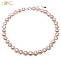 """JYX 2020 Big Bead Perlenkette rosa shinning 11.5mm flache runde kultiviert Wasserhalskette 17"""""""