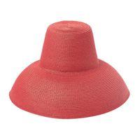 Nouveau Femmes larges bords Mode Chapeau de paille Stade Catwalk Concave Forme Fedora Chapeaux Summer Beach Longe Sun Protection Cap YL5
