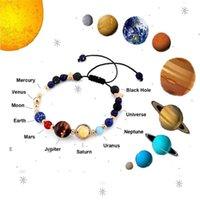 2020 우주 갤럭시 여덟 행성 팔찌 가디언 스타 솔라 에너지 스톤 비즈 팔찌 7 차크라 크리스마스 커플 선물에 대한