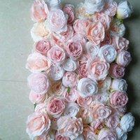 SPR Ücretsiz Kargo yüksek kaliteli 3D çiçek duvar düğün arka yapay çiçek masa runner ve merkezinde dekoratif çiçek