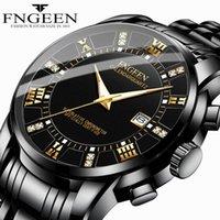 Armbanduhren Herrenkalender Mode Lässig Business Watch ultradünne wasserdichte grenzüberschreitende Explosionsmodell schwarz Stahlband Quarz