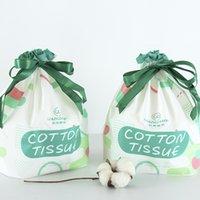 Serviette jetable débarbouillettes épaissie avec Wrap pur coton La beauté serviette en rouleaux Perle Motif nettoyage serviette