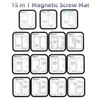 15 in 1 Viti magnetici Mat Keeper memoria Mat Grafico per iPhone 6 7 8 6S X XS Max XR Teardown 12 in 1 riparazione Guida Pad All in 1
