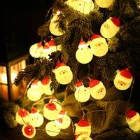 크리스마스 장식 산타 클로스 문자열 LED 조명 아름 다운 멋진 분위기 눈사람 나무 파티 장식 정원 집 결혼식