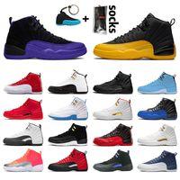 nike air jordan 12 retro jordans 12s jumpman 23 أحذية رجل إمرأة كرة السلة لعبة انفلونزا ستون جامعة الذهب الأزرق المدربين الحريرالأردنالرجعية بولز الرجال احذية رياضية