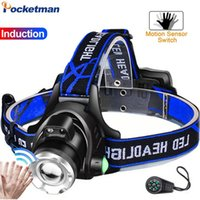 10000LM faróis LED Brightest Zoomable Farol T6 L2 LED V6 Head Light Head Lamp Waterproof Frente Torch Use 18650 Fishin