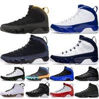 Nouvelle arrivée 9 de basket-ball 9s Chaussures de sport rouge hommes bleu noir Bred espace UNC Jam Racer bleu hommes Entraîneur Sneakers 40-47