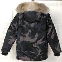 2020 Invierno de Down Parka Hombre Jassen Chaquetas de vestir exteriores encapuchada de la piel de Big Fourrure Manteau Canadá por la chaqueta Expedición Escudo Hiver Doudoune11