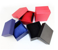 Fashion Watch boxes black red paper square watch case with p...