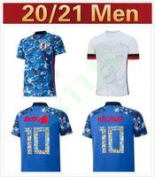 2020 Giappone National Team Okazaki Kagawa Mens Soccer Jerseys New Honda Hasebe Nagatomo Casa Blu Away Bianco Camicie di calcio Camicie Uniforme