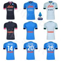 SSC Napoli 2020 Kits Camisa 2021 24 de fútbol Lorenzo Insigne Jersey 7 José Callejón 44 Kostas Manolas 20 Piotr Zielinski Koulibaly Fútbol
