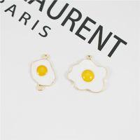 MRHUANG 10pcs lot Egg Enamel Charms Egg Connector fit necklaces bracelet DIY Fashion Jewelry Accessories