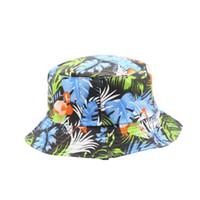 Tasarımcı Kova Şapka Havzası Kapaklı Balıkçı Çift Taraflı Net Kırmızı INS Yağlıboya Çiçekler Bayan Stil Güneş Koruyucu Ultraviyole geçirmez