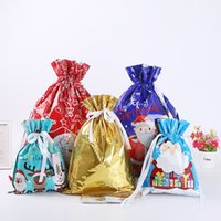New Home Christmas Gift Sacks Drawstring Bag Santa Sack Bags gift bundle pocket Gift Storage Bag T10I0032