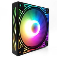 12см 12 6PIN Блок управления Бесшумный гидравлический подшипник RGB вентилятор охлаждения Цвет Изменение игровой CPU Fast PC Case Desktop Computer