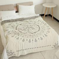 Одеяла Sugan Life 100% хлопок Муслин одеяло кровать диван путешествие дышащая шикарный мандала большой мягкий бросок пункт