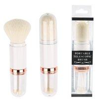 Professional 4 in 1 Travel Portable Mini Eye Makeup Brushes Set Reals Eyeshadow Eyeliner Eyebrow Brush Lip Make Up Brushes kit