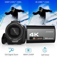 Andoer 4K Digital Video Camera Camcorder Ultra 48MP 3.0 polegadas IR Infrared Night-shot 16X zoom digital com bateria recarregável
