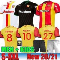 20 21 RC Lens трикотажных изделий футбола Майо-де-футового Fofana GANAGO Kakuta Gradit Fortes Perez 2020 2021 дома вдали третьего MEN KIDS комплекта футбол рубашки