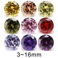 Övriga 5mm 6mm 8mm (3 ~ 16mm) rund orange, svart olivlila, rosa, gul kubisk zirkoniumoxid