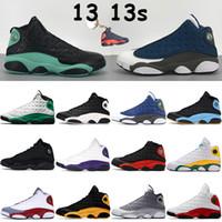 최고 농구 신발 13 13S 블랙 고양이 BRIND Flint Black Island Lucky Green Court 보라색 낮은 순수한 백금 남성 스니커즈 스포츠 트레이너