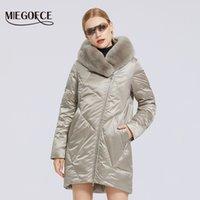 MIEGOFCE зимы новых женщин хлопка пальто с меховым воротником Стильный Rex Rabbit Long Jacket Зимняя Женщины ветровки ветрозащитный куртка 200918