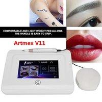 Profissional Permanent Tattoo Maquiagem Máquina ArtMex V11 Eye Brow Lips Microblading Derma Caneta Microneedle Cartucho Cuidados de pele MTS PMU