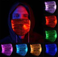 Noel Partisi Festivali Masquerade Rave için 7 Renk Parlak LED Yüz Maskesi Filtreli Moda Parlayan Maske