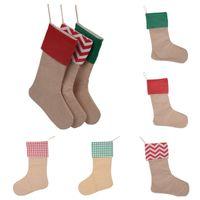 القطن عيد الميلاد هدية عيد الميلاد الجوارب الجوارب قماش هدية كيس قماش من القطن والجوت متعدد الألوان المواد 5 ألوان T3I51144