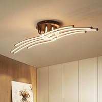 Modern LED Tavan Işıklar Yaratıcı Kahve Minimalism Lambası İçin Salon Yatak Odası Ev Işıklandırma Alüminyum Tavan Lambası