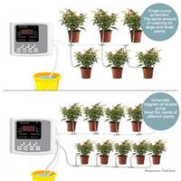 Garten Tropf Bewässerungssystem Gerät Dual Pump Controller Timer System Solar Intelligente Pflanze Automatische Bewässerungsgeräte 2020