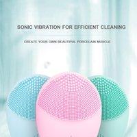 2020 Sıcak Satış Derin elektrik yüz temizleyici su geçirmez yüz yıkama silikon yüz temizleme fırçası temizleme cilt bakım araçları gözenekleri