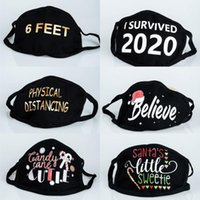 2020 Anti Dust Face Mouth Cover PM2.5 Mask Dustproof Washable Reusable Cotton Masks Black Fashion Letter Printed Cloth Masks FY0083
