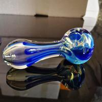 """fumer la pipe en verre tube brûleur à mazout verre soufflé à la main Fabrication et belle fabriqués à la main, cuillère tuyau de 4"""" 80g Fait de pack valeur haute qualité"""