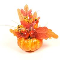 Flores decorativas guirnaldas de acción de gracias calabazas artificiales de halloween de halloween de espuma de espuma de halloween vegetal