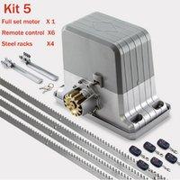 Controle de acesso a impressão digital Kingjoin resistente 1800kg abridor de porta deslizante automático / com controle remoto (chaveiro, pockell, flash opcional)
