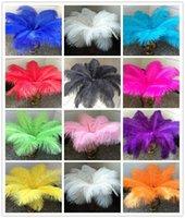 Alta calidad Hermosa avestruz Feather 40-45cm / 16-18 pulgadas U Pick Color Body Piece Decor 50 P