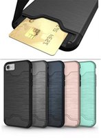 Card Slot Case For iphone Samsung Armor case hard shell back...
