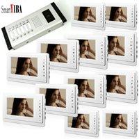 """Téléphones de porte vidéo Smartyiba 7 """"Téléphone 3 à 12 unités Appartements câblés Appartements mains libres de sécurité interphone automatisation"""