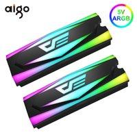 مراوح الجماهير Aigo SSD غرفة التبريد برودة 5 فولت A-RGB الحرارة بالوعة M.2 2280 الصلبة الحالة الصلبة القرص الصلب المبرد السلبي تبديد الألومنيوم التبريد