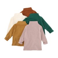 1-6Yrs Baby Girls Cute Basic Candy Color Tops Autumn Toddler Kids Long Sleeves Cotton Baby Blouses Warm Shirt Children Clothing