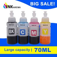 INKARENA 70ml X 4 Stampante Dye Ink Refill Kit per l'espressione ET-2550 ET-2600 ET-2650 ET-3600 Ecotank Ciss serbatoio dell'inchiostro Sistema